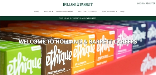 Holland & Barrett launch engaging new careers site